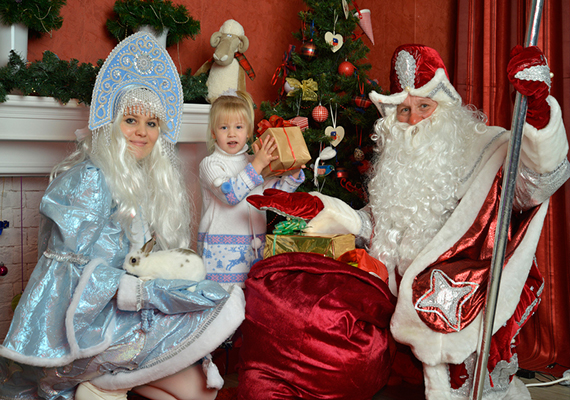 Дед Мороз и Снегурочка на дом театр Оранжевое небо